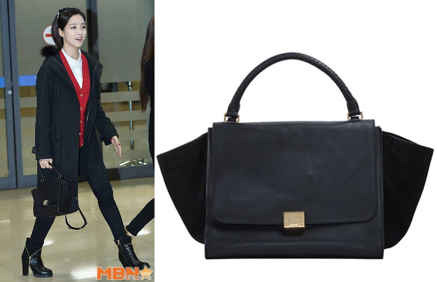celine sale bags - celine trapeze leather tote bag