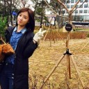 Eunjung visits the T-ara Forest and plants trees for Arbor Day