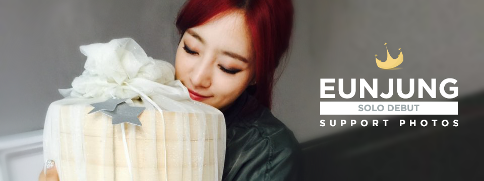 Eunjung poses with our Solo Debut Food Support Project