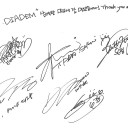 T-ara poses with our So Crazy food support + send a thankful autograph